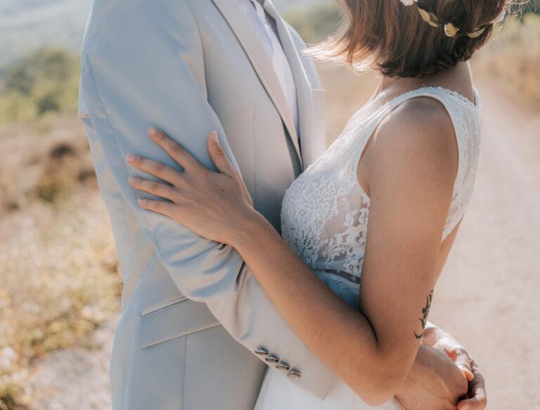 beau couple en photo de mariage