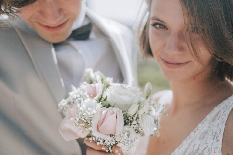 regard d'une mariée
